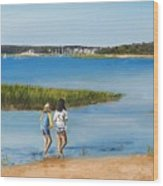 By The Shore Wood Print