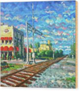 By the Tracks at Delray Wood Print