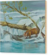 By The Waters Edge Wood Print