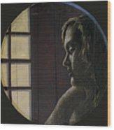 By the Window Wood Print