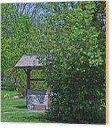 By The Wishing Well-horizontal Wood Print