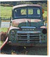Bygone Dodge Wood Print
