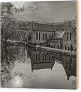 Byrd Park Pumphouse 3711t_s2 Wood Print