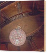 Byrd Theater Chandelier Wood Print