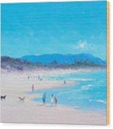 Byron Bay Beach Morning Wood Print