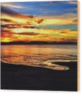 Byron Bay Sunset  Wood Print