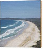 Byron Bay Tallow Beach, Australia Wood Print