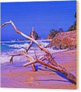 Byron Beach Australia Wood Print