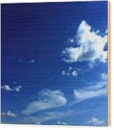 Byzantine Blue Skies With Clouds Wood Print