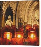 Byzantine Candles Wood Print