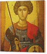 Byzantine Knight Wood Print