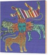 Byzantine Lion Wood Print