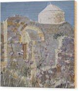 Byzantine Monastery Cyprus Wood Print