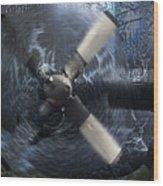 C-130 Through The Storm Wood Print