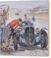 c 1949 the delahaye 135 s driven by giraud and gabantous Roy Rob Wood Print
