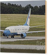 C-40 Clipper Taxiing At Dresden Wood Print