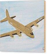 C-54 Warplane Wood Print