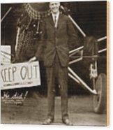 Charles A. Lindbergh And Spirit Of St. Louis 1927 Wood Print