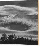 C Clouds Wood Print