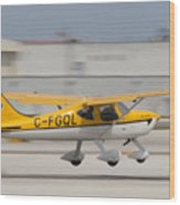 C-fgql Aircraft Wood Print