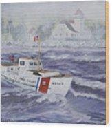 C G 40300 At Coast Guard Station Plum Island Wood Print