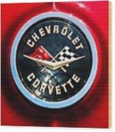 C2 Corvette Logo Wood Print