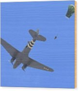 C47 And Paratroopers At Salinas Wood Print
