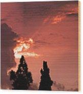 Cloud Anamoly Running Man Wood Print