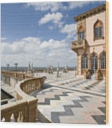 Ca D'zan Mansion Sarasota Wood Print