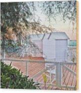 Cabana View Wood Print