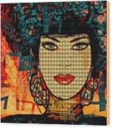 Cabaret Girl Wood Print