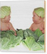 Cabbage Kids Wood Print