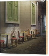 Cabildo Alley Tables Wood Print