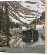 Cabin At Chinns Lake Wood Print