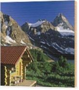 Cabin At Mt Assiniboine Lodge, Mt Wood Print