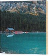 Cabin At The Lake, Wood Print