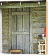 Cabin Door Wood Print
