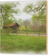 Cabin House Series 1360 Wood Print