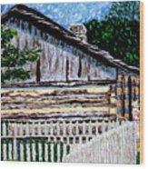 Cabin in Knife Wood Print