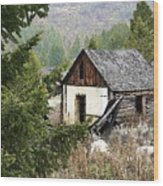Cabin In Need Of Repair Wood Print