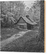 Cabin In The Cove Wood Print