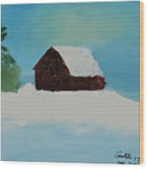 Cabin In Vermont Wood Print