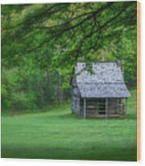 Cabin On The Blue Ridge Parkway - 1 Wood Print