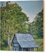 Cabin On The Blue Ridge Parkway - 10 Wood Print