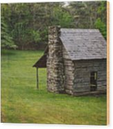 Cabin On The Blue Ridge Parkway - 4 Wood Print