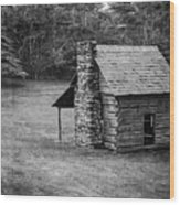 Cabin On The Blue Ridge Parkway - 5 Wood Print