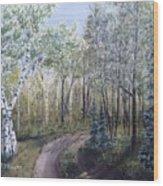 Cabin Road Wood Print