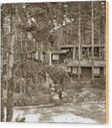 Cabins At Carmel Highlands Inn Circa 1930 Wood Print