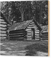 Cabins Of Valley Forge Wood Print
