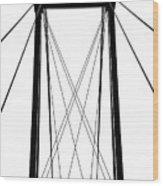 Cable Bridge Abstract Wood Print
